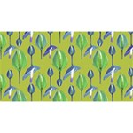 Tropical Floral Pattern Magic Photo Cubes Long Side 2