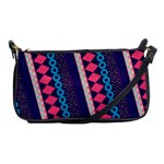 Purple And Pink Retro Geometric Pattern Shoulder Clutch Bags Front