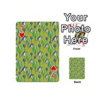Tropical Floral Pattern Playing Cards 54 (Mini)  Front - Heart7