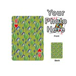 Tropical Floral Pattern Playing Cards 54 (Mini)  Front - Heart8