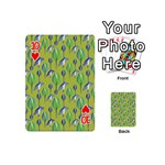 Tropical Floral Pattern Playing Cards 54 (Mini)  Front - Heart10