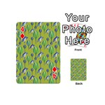 Tropical Floral Pattern Playing Cards 54 (Mini)  Front - Diamond4