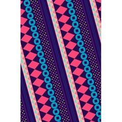 Purple And Pink Retro Geometric Pattern 5.5  x 8.5  Notebooks