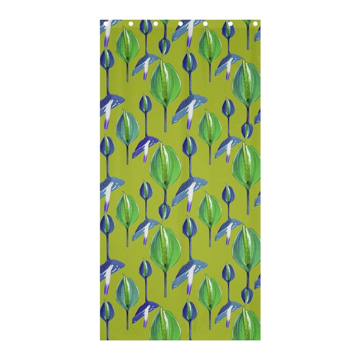 Tropical Floral Pattern Shower Curtain 36  x 72  (Stall)