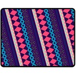 Purple And Pink Retro Geometric Pattern Fleece Blanket (Medium)  60 x50 Blanket Front
