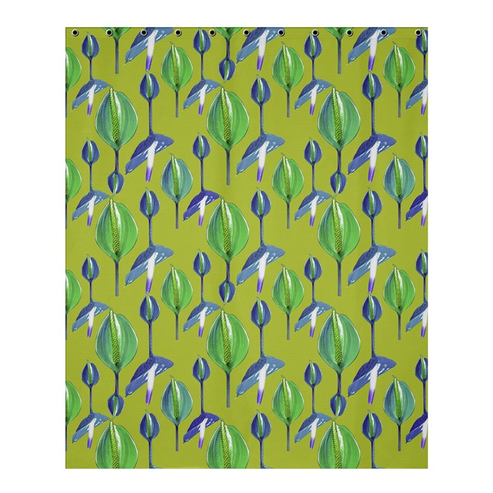 Tropical Floral Pattern Shower Curtain 60  x 72  (Medium)