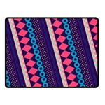 Purple And Pink Retro Geometric Pattern Fleece Blanket (Small) 50 x40 Blanket Front