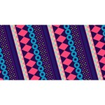 Purple And Pink Retro Geometric Pattern Magic Photo Cubes Long Side 2