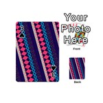 Purple And Pink Retro Geometric Pattern Playing Cards 54 (Mini)  Front - Spade3