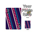 Purple And Pink Retro Geometric Pattern Playing Cards 54 (Mini)  Front - Spade10