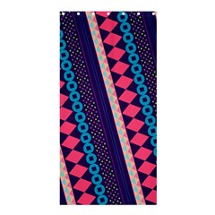 Purple And Pink Retro Geometric Pattern Shower Curtain 36  X 72  (stall)