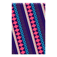 Purple And Pink Retro Geometric Pattern Shower Curtain 48  x 72  (Small)
