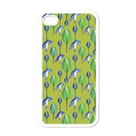 Tropical Floral Pattern Apple iPhone 4 Case (White) Front