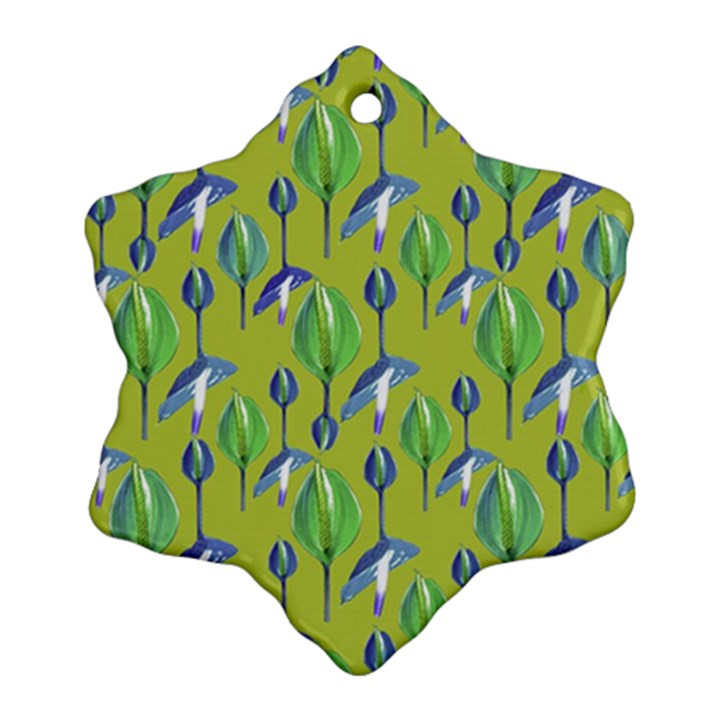 Tropical Floral Pattern Ornament (Snowflake)