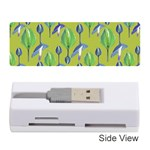 Tropical Floral Pattern Memory Card Reader (Stick)  Front