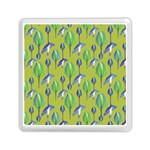 Tropical Floral Pattern Memory Card Reader (Square)  Front