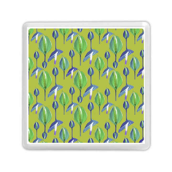 Tropical Floral Pattern Memory Card Reader (Square)