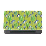 Tropical Floral Pattern Memory Card Reader with CF Front
