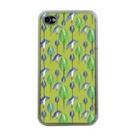 Tropical Floral Pattern Apple iPhone 4 Case (Clear) Front