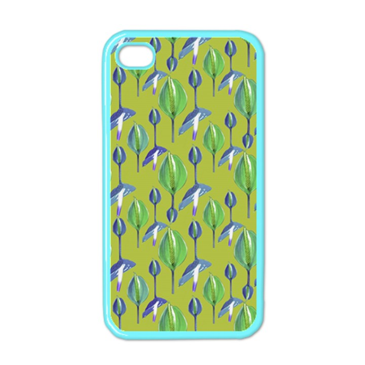 Tropical Floral Pattern Apple iPhone 4 Case (Color)