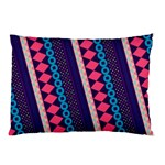 Purple And Pink Retro Geometric Pattern Pillow Case (Two Sides) Back