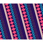 Purple And Pink Retro Geometric Pattern Deluxe Canvas 14  x 11  14  x 11  x 1.5  Stretched Canvas