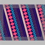 Purple And Pink Retro Geometric Pattern Deluxe Canvas 16  x 12   16  x 12  x 1.5  Stretched Canvas
