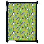 Tropical Floral Pattern Apple iPad 2 Case (Black) Front