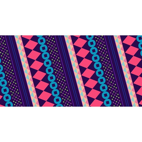 Purple And Pink Retro Geometric Pattern YOU ARE INVITED 3D Greeting Card (8x4)