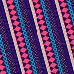 Purple And Pink Retro Geometric Pattern YOU ARE INVITED 3D Greeting Card (8x4) Inside