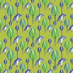 Tropical Floral Pattern ENGAGED 3D Greeting Card (8x4) Inside