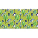 Tropical Floral Pattern Happy New Year 3D Greeting Card (8x4) Back