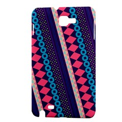 Purple And Pink Retro Geometric Pattern Samsung Galaxy Note 1 Hardshell Case