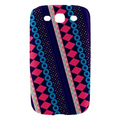 Purple And Pink Retro Geometric Pattern Samsung Galaxy S III Hardshell Case
