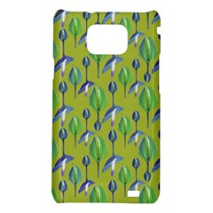 Tropical Floral Pattern Samsung Galaxy S2 i9100 Hardshell Case
