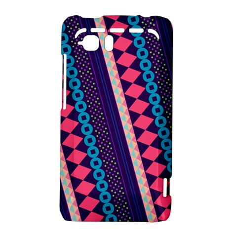 Purple And Pink Retro Geometric Pattern HTC Vivid / Raider 4G Hardshell Case