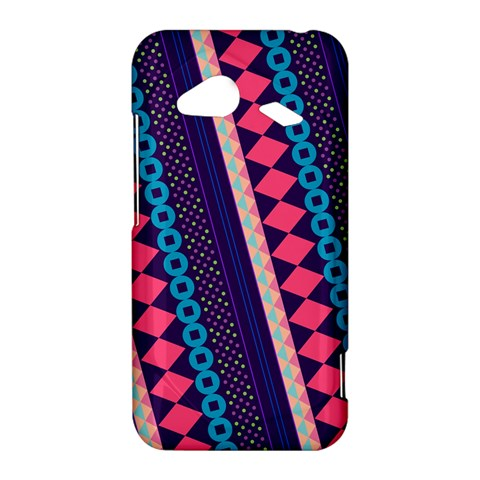 Purple And Pink Retro Geometric Pattern HTC Droid Incredible 4G LTE Hardshell Case