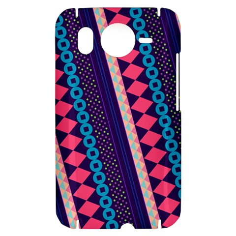 Purple And Pink Retro Geometric Pattern HTC Desire HD Hardshell Case