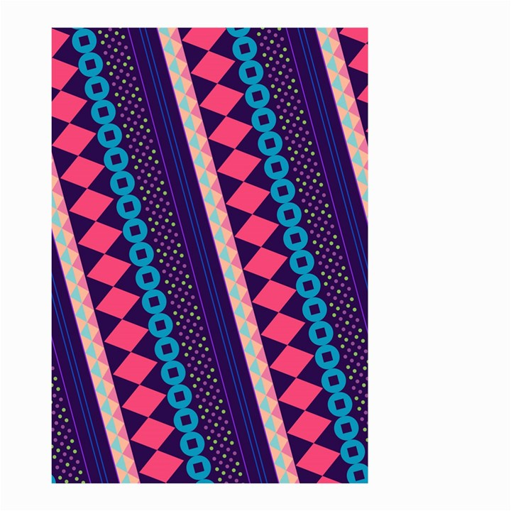 Purple And Pink Retro Geometric Pattern Small Garden Flag (Two Sides)