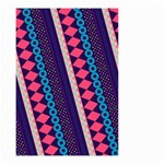 Purple And Pink Retro Geometric Pattern Small Garden Flag (Two Sides) Back