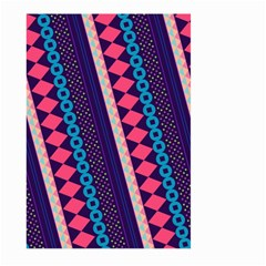Purple And Pink Retro Geometric Pattern Large Garden Flag (two Sides)