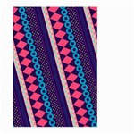 Purple And Pink Retro Geometric Pattern Large Garden Flag (Two Sides) Back