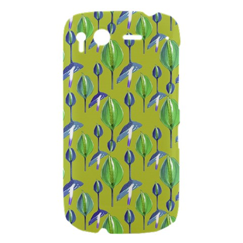 Tropical Floral Pattern HTC Desire S Hardshell Case