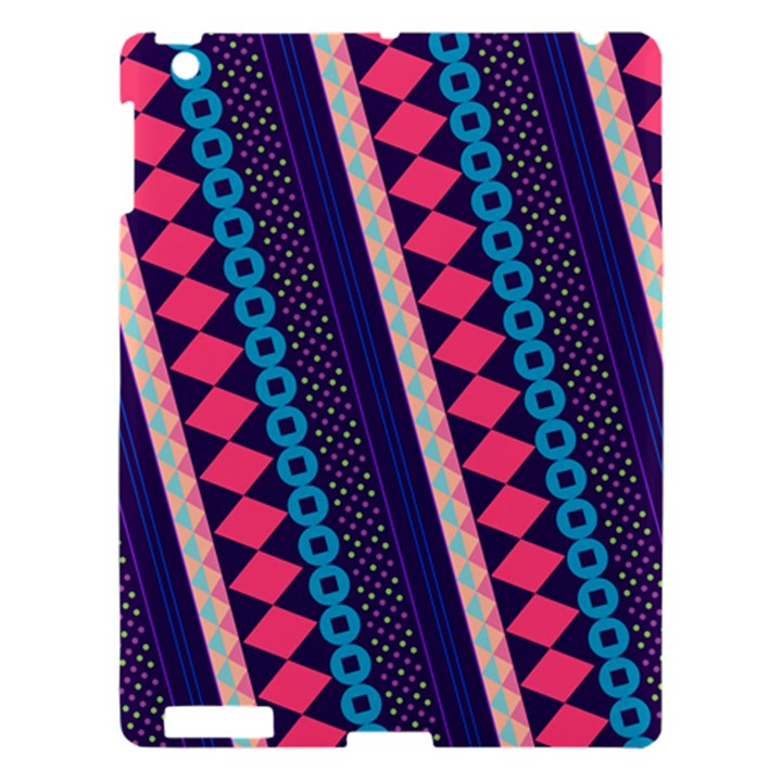 Purple And Pink Retro Geometric Pattern Apple iPad 3/4 Hardshell Case