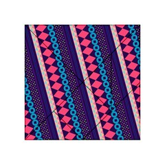 Purple And Pink Retro Geometric Pattern Acrylic Tangram Puzzle (4  x 4 )