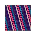 Purple And Pink Retro Geometric Pattern Acrylic Tangram Puzzle (4  x 4 ) Front