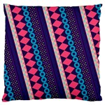 Purple And Pink Retro Geometric Pattern Large Cushion Case (One Side) Front