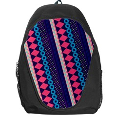 Purple And Pink Retro Geometric Pattern Backpack Bag
