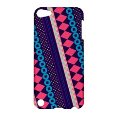 Purple And Pink Retro Geometric Pattern Apple Ipod Touch 5 Hardshell Case