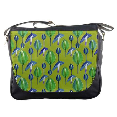 Tropical Floral Pattern Messenger Bags